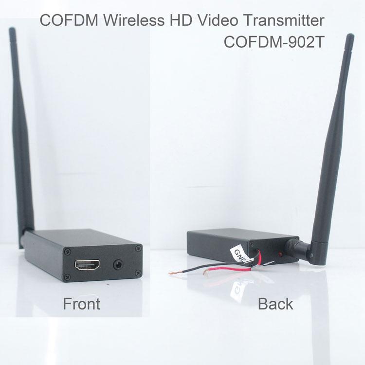 COFDM-T902T COFDM HD Wireless composite Video Transmitter 1080P CVBS SD 720P 2