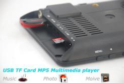 7 inch ISDB-T Digital ISDBT TV HD MPEG4 FULL SEG Analog TV USB TF MP5 player AV input Rechargeable Battery 14