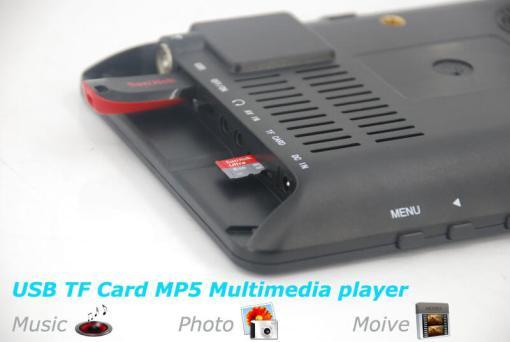 7 inch ISDB-T Digital ISDBT TV HD MPEG4 FULL SEG Analog TV USB TF MP5 player AV input Rechargeable Battery 7