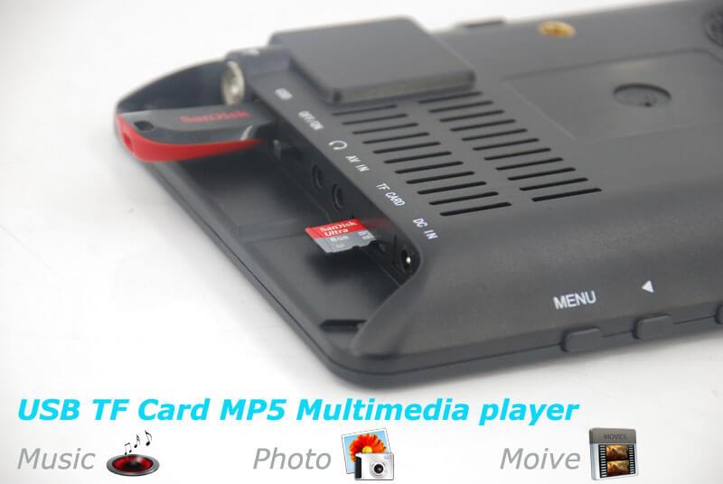 7 inch ISDB-T Digital ISDBT TV HD MPEG4 FULL SEG Analog TV USB TF MP5 player AV input Rechargeable Battery 23