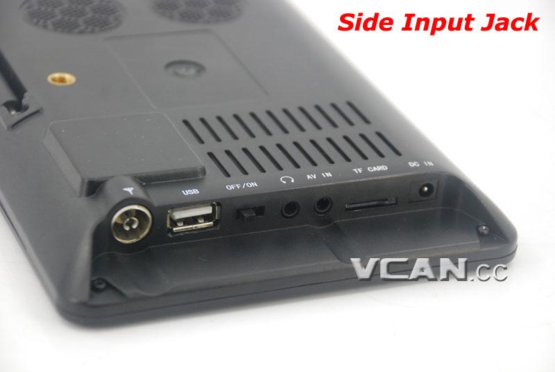 DTV900 DVB-T2 DVB-T ATSC ISDB-T 9 inch Digital TV Analog TV USB TF MP5 player AV in Rechargeable Battery 19