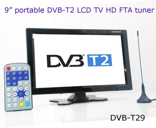 DVB-T29 9 inch portable DVB-T2 LCD TV monitor HD FTA Freenet H265 HEVC Codec 2