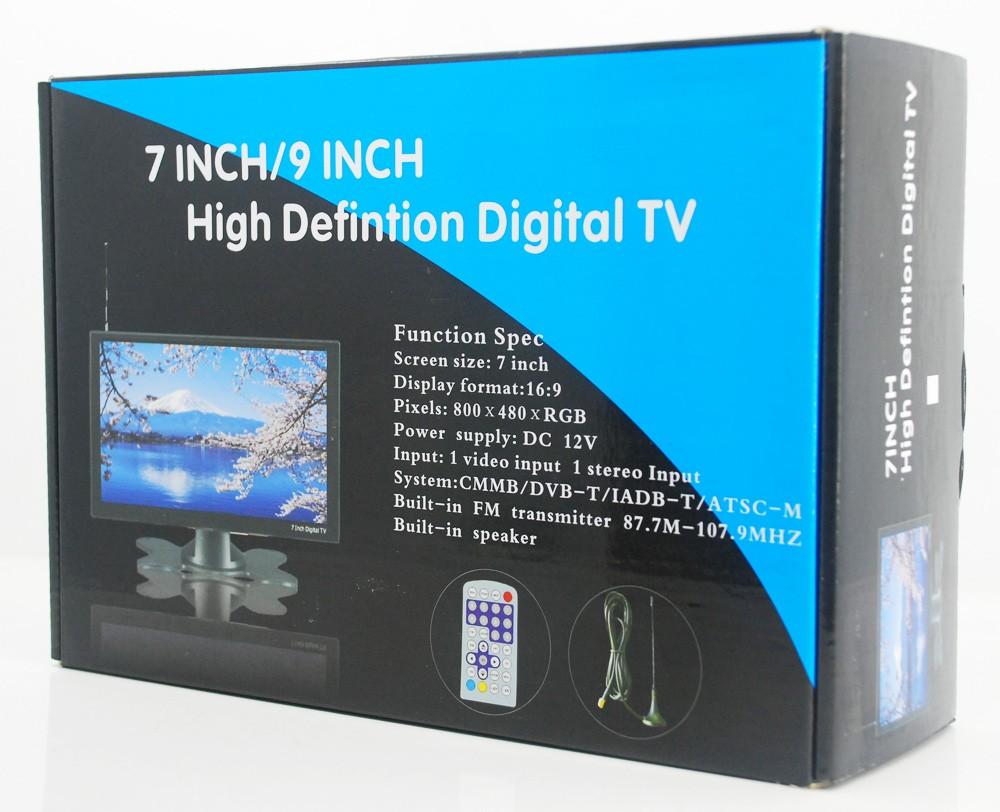 DVB-T29 9 inch portable DVB-T2 LCD TV monitor 2017 HD FTA Freenet H265 HEVC Codec 2