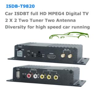 ISDB-T9820車ISDB-T 2つのチューナー2つのアンテナHD MPEG4テレビ受信機、ブラジルペルーチリコスタリカ 1