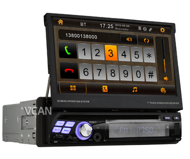 """VCAN0777 Car 7inch One din GPS """"3D rotatingUI+PIP+ATV +FM/RDS+BT+IPOD+GPS +SWC+Subwoofer+Aux In Multimedia System with touch screen 1"""
