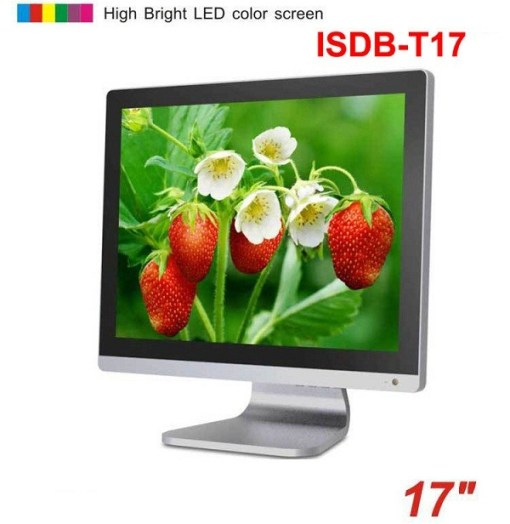 17 inch ISDB-T DVB-T2 ATSC digital VGA LCD TV MPEG4 HD DTV with HDMI USB 1
