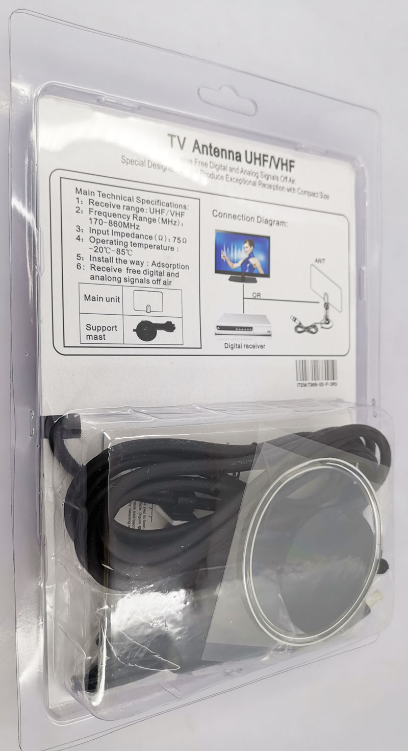 VCAN0992 Digital TV DVB-T2 UHF/VHF Flat antenna and No extra power required for home use 19