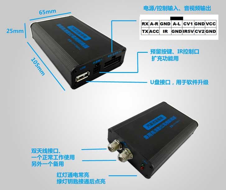 Car DVB-T 2 Antenna TV receiver VCAN1062 HD Digital TV tuner Box support MPEG4 H.264 17