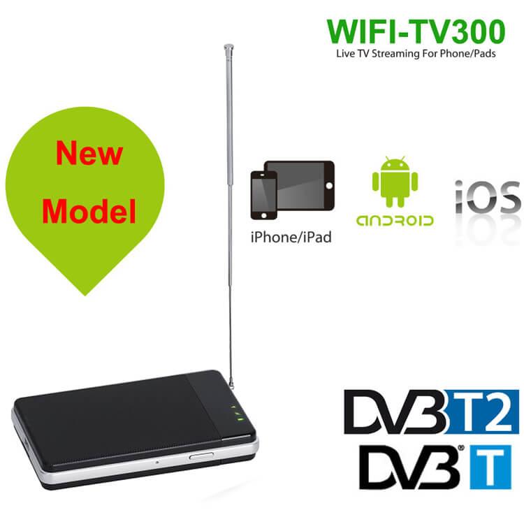 WIFI DVB-T2 Tuner Digital TV DVB-T Receiver for Android and iphone IOS pad
