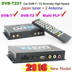 Car DVB-T2 DVB-T MULTI PLP Digital TV Receiver 10