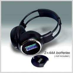 car wireless IR stereo TV headphone 10