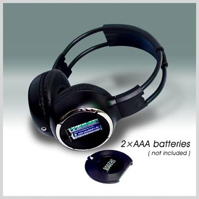 car wireless IR stereo TV headphone 1