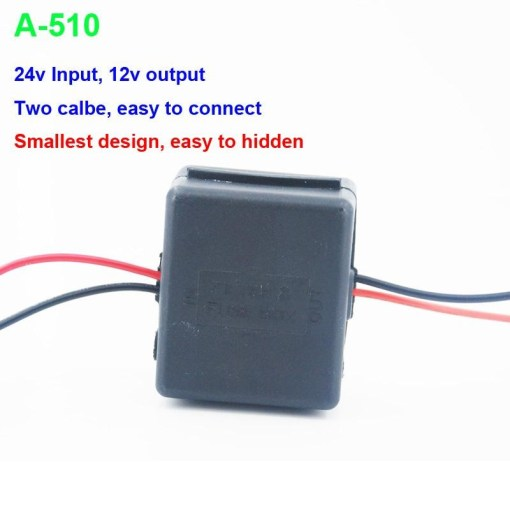 DC24V to 12V Car power charger adapter converter DC/DC Converter Regulator 24V Step Down to 12V Low Voltage Reducer Buck Transformer Vehicles 4