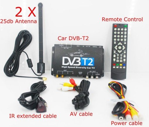 Car DVB-T2 DVB-T MULTI PLP Digital TV Receiver 4