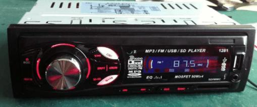 In dash One din Car USB SD MP3 player FM radio 6