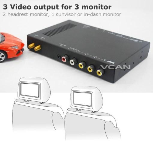 Car DVB-T digital tv receiver 2 antenna tuner TNT TDT 3
