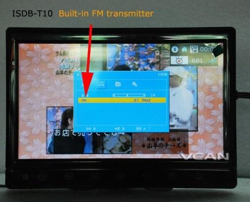 2 tuner 2 antenna 10.1 inch full seg digital TV receiver 10