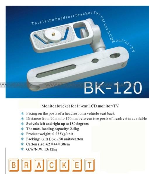 BK-120 Monitor Bracket for In-car LCD Monitor/TV 1