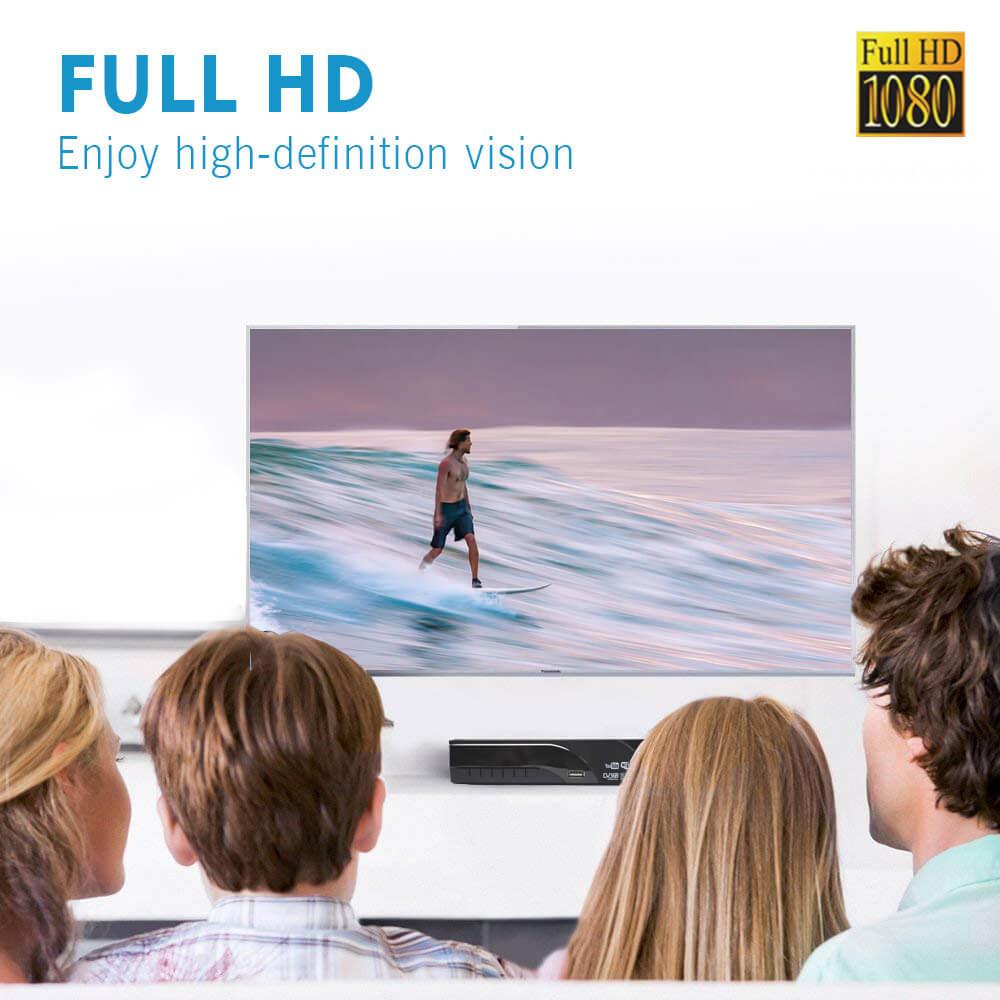 Home DVB-T2 H.265 HEVC H.264 DVB-T Receiver HDMI RCA Terrestrial Digital TV Receiver TV Tuner SCART MPEG4 23