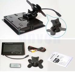 TM-7003A Car 7 inch TFT LCD Monitor 2CH Video Input rear view 7