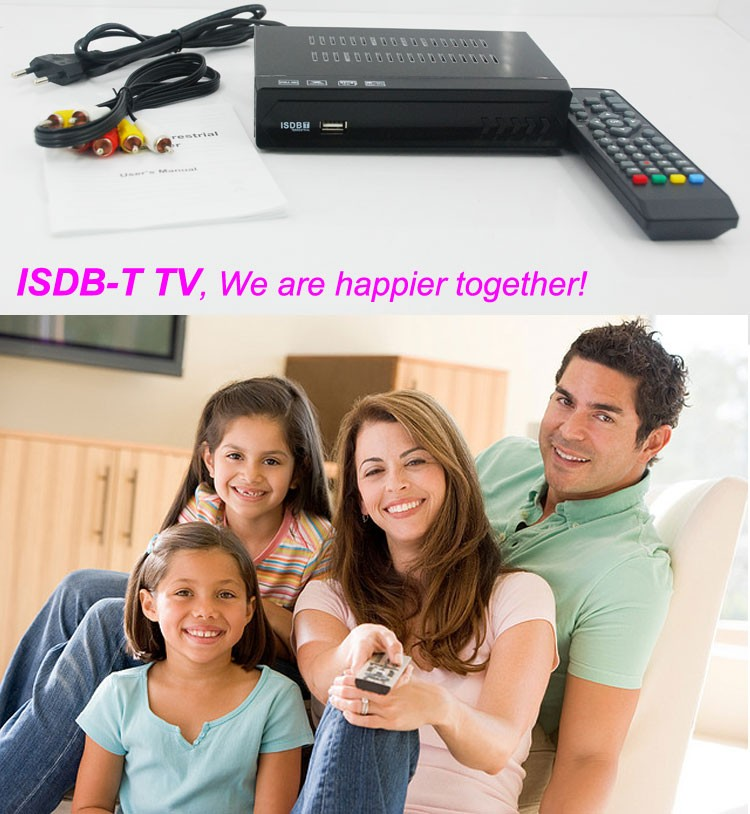 VCAN1047 Home ISDB-T Digital TV Receiver TV Plus black box MPEG4 HDMI USB PVR Remote 10