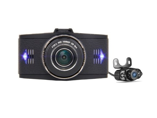 VCAN1391 3inch LCD screen 1080P dual lens car dash camera with car plate number recognition function 1