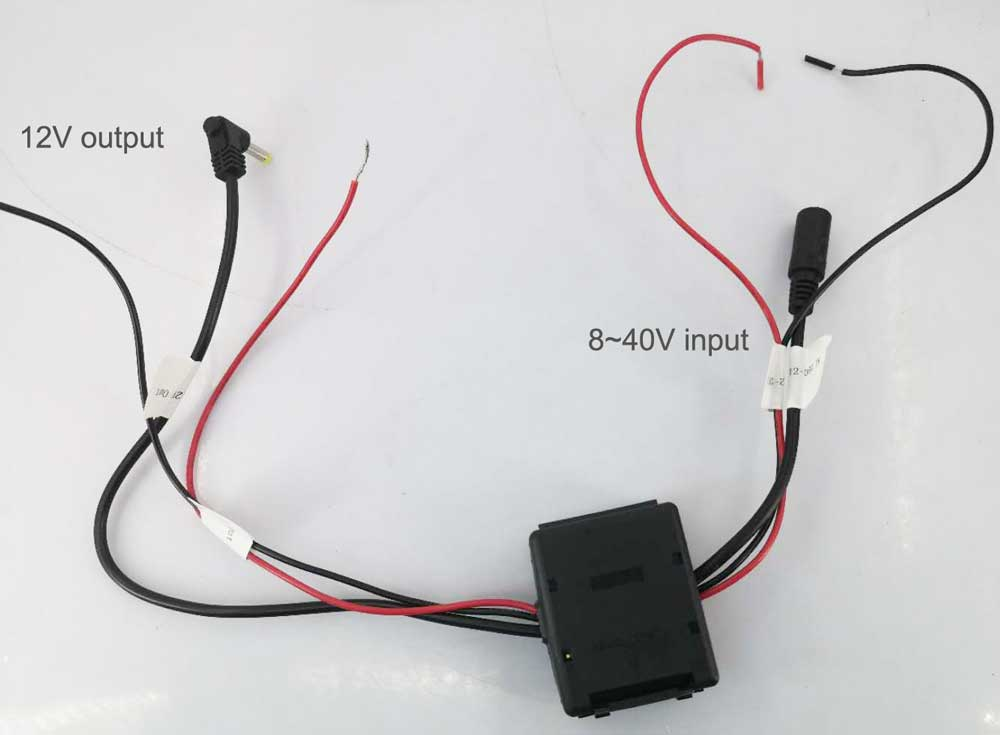 40V input 12V output power adapter in car