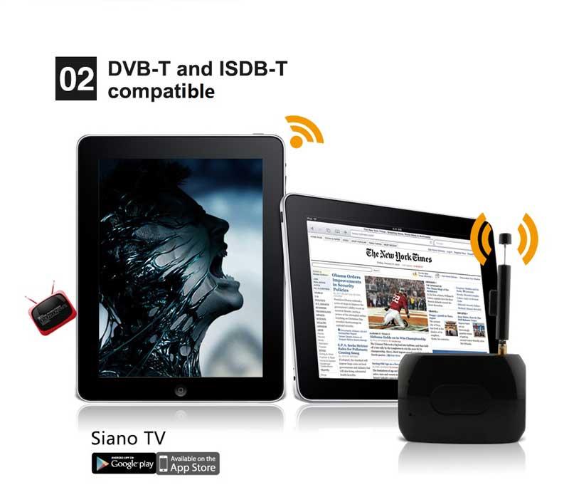 WiFi-TV1W digital TV wifi receiver dvb-t isdb-t for smartphone no need internet 21