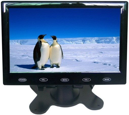 VCAN0989 7inch Car slim design Digital stand LCD Monitor with Touch botton 1