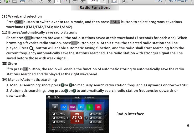VCAN1294 user manual for 2 din GPS navigation DVD USB SD 7