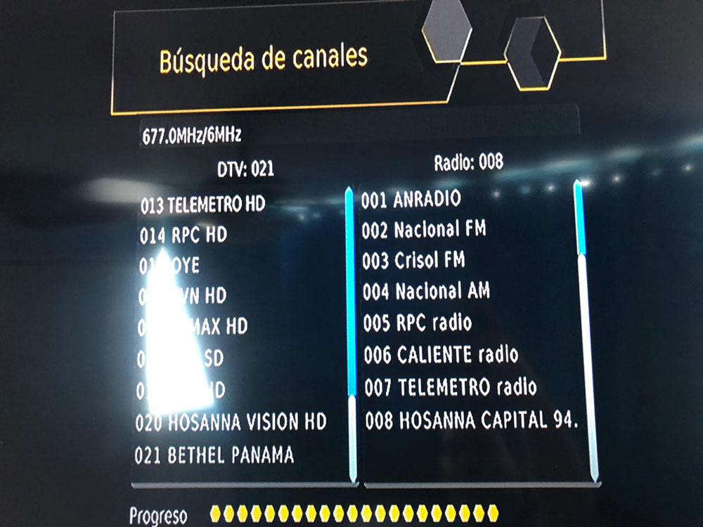 Panama Digital TV Channel List 1