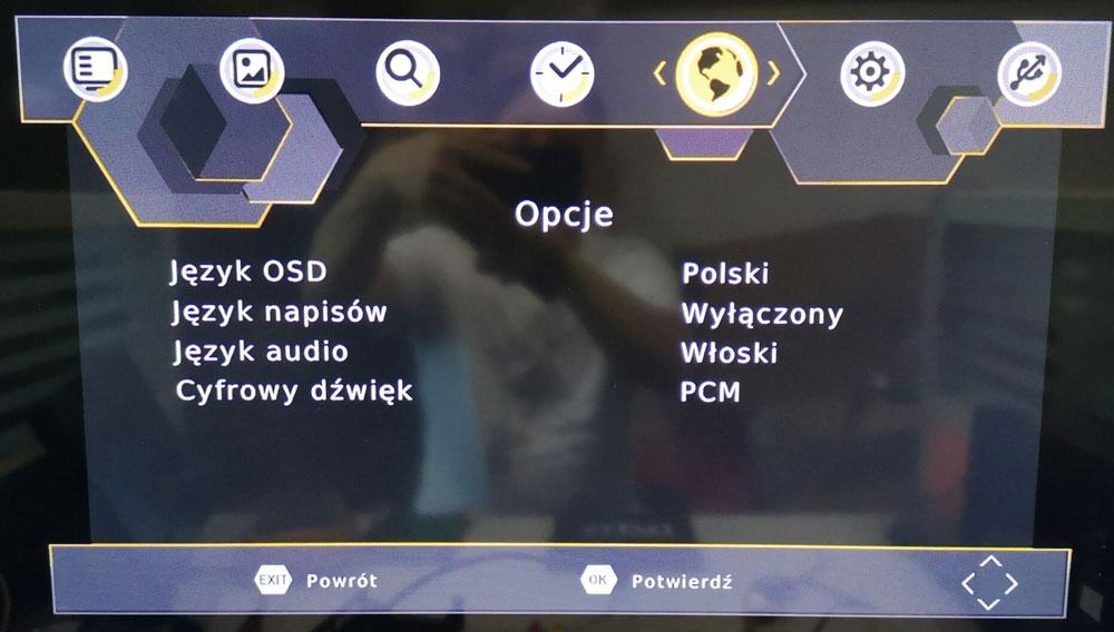 Poland car dvb-t2 MPEG2 dvb-t digital tv receiver 5