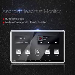 Android Headrest Player 11.6 inch IPS HD Monitor With WiFi Speaker Bluetooth FM transmitter Seat Touch Screen 12V 2PCS Pair 13