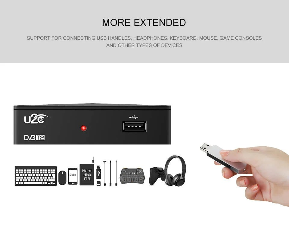 Home STB DVB-T2 90mm factory price HD digital tv box receiver 5
