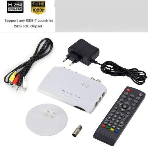Digital TV ISDB-T ISDB-C Receptor TV Tuner Receiver TDT Set Top Box H.264 HDTV Decoder 4