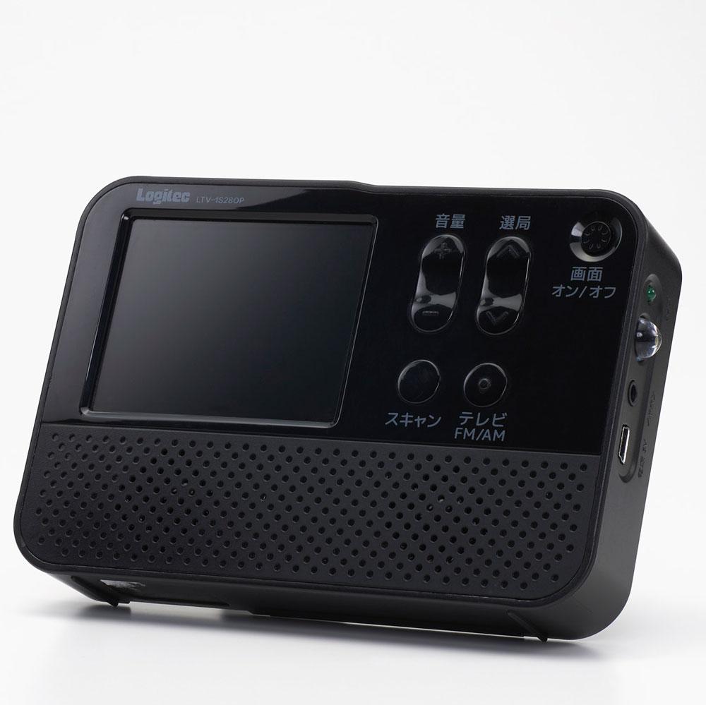 FM/AMポータブルラジオ 2.8インチ液晶搭載 ワンセグテレビ付き ワイドFM対応 7