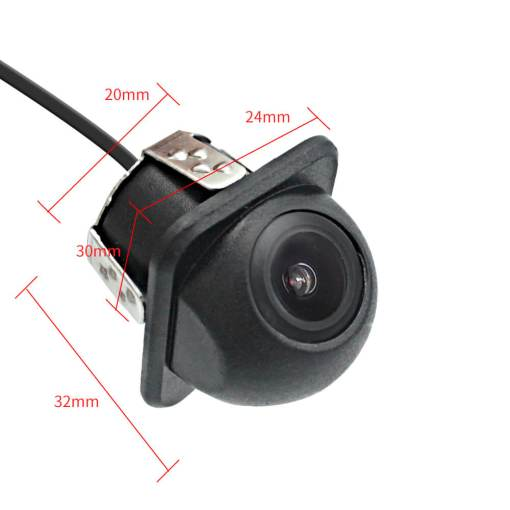 small straw hat rearview camera with 3 switches cuttable cable for parking guideline on/off, horizontal mirror on/off, vertical mirror on/off 2