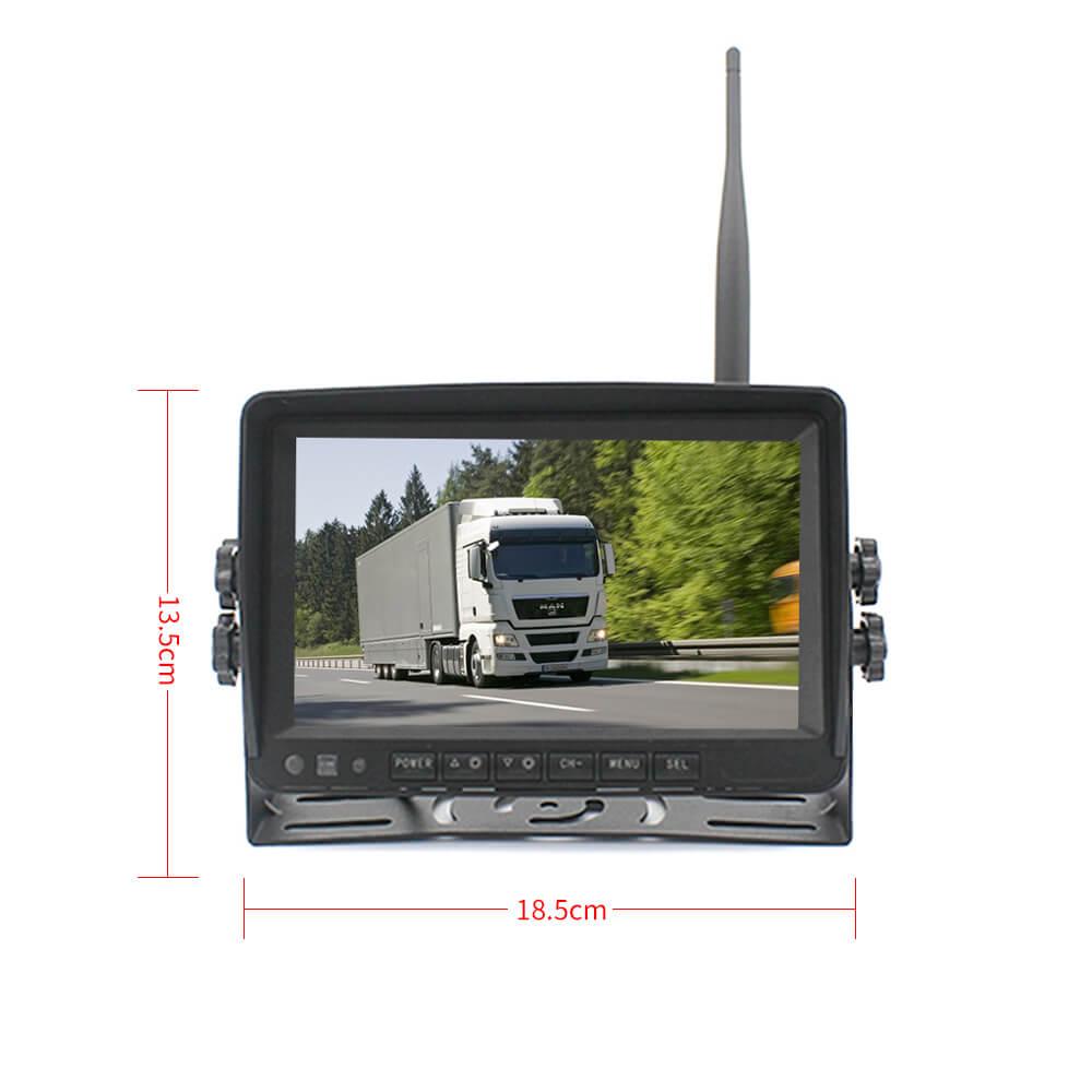 7 inch quad monitor wireless camera DVR 9