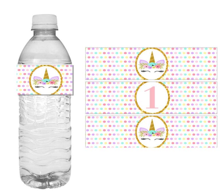 Diy Unicorn Birthday Party Ideas Water Labels Vcdiy
