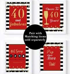 40th birthday party decorations for a forty and fabulous party [ 2553 x 3340 Pixel ]
