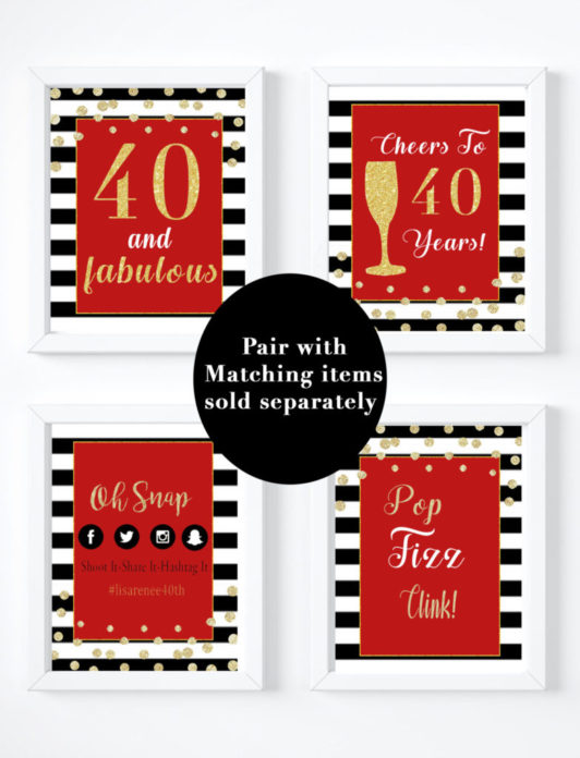 medium resolution of 40th birthday party decorations for a forty and fabulous party