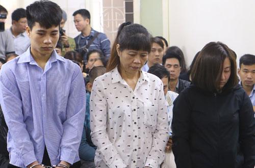 The three defendants involving in the fire at the karaoke bar that kills 13 people in November 2016: Hoang Van Tuan (R), Le Thi Thi and Nguyen Dieu Lieu Linh. Photo by VnExpress/Viet Dung