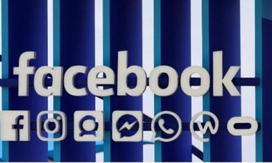 Logo Facebook tại một triển lãm sáng tạo tại Pháp hồi tháng 6. Ảnh: Reuters