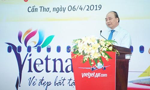 Thủ tướng Nguyễn Xuân Phúc phát biểu tại sự kiện.