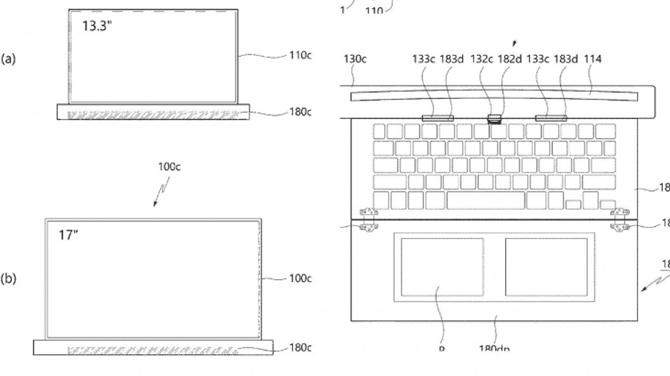Bàn phím và touchpad cũng được gấp gọn. Ảnh: RootMyGalaxy