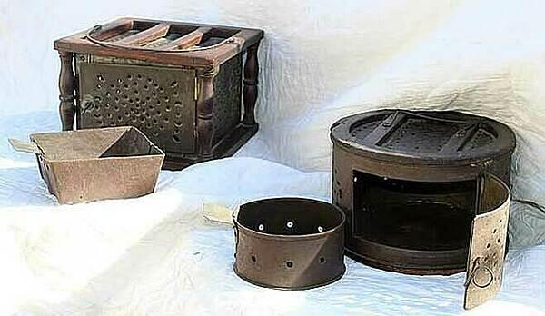 Một số biến thể của lò sưởi chân. Ảnh: Colonial Senfe