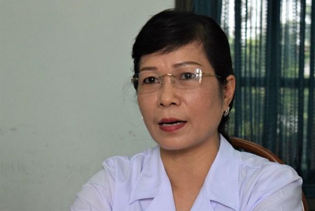 Bác sĩ Trần Thị Hồng Thu, Phó Giám đốc Bệnh viện Tâm thần Ban ngày Mai Hương. Ảnh: Chi Lê.