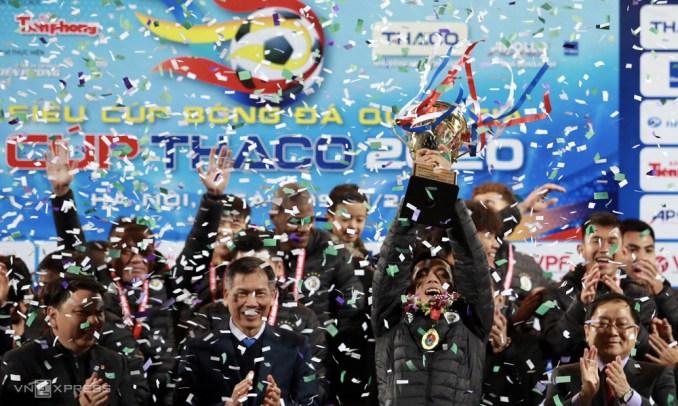 Chưa có nhiều tín hiệu tích cực về chất lượng cầu thủ nhìn từ chiến thắng của Hà Nội ở Siêu Cup. Ảnh: Lâm Thỏa