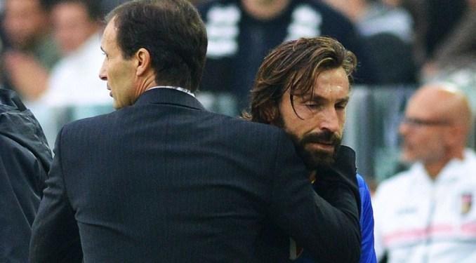 Pirlo dường như chịu ảnh hưởng lớn từ lối chơi thực dụng của Allegri, dù chỉ làm việc với HLV bậc tiền bối này một mùa ở Juventus và một mùa ở Milan.
