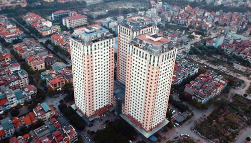 Toà nhà CT1 Xa La (3 đơn nguyên) là một trong 29 chung cư vi phạm PCCC chưa được khắc phục. Ảnh: Ngọc Thành.